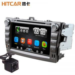2Din Car In Dash DVD Player GPS Navigator Radio Bluetooth Head Unit Stereos with Reverse Camera for Toyota COROLLA 07-11