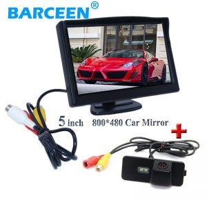 "Glass lens car rearview camera +5"" car dusplay monitor for Volkswagen VW Magotan PASSAT CC /Golf 5/ POLO hatchback / Jetta"
