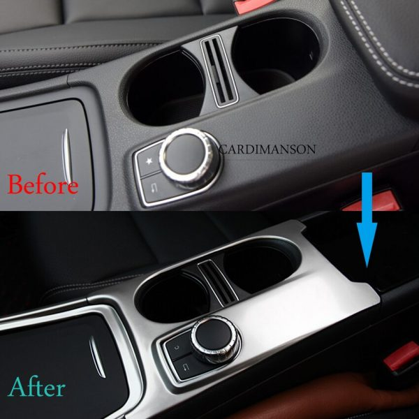 Mercedes Benz A CLA GLA Water Cup Holder Frame Decal Cover Trim