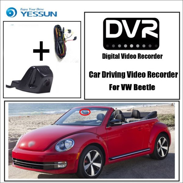 Volkswagen Beetle Car DVR Driving Video Recorder Mini Control APP Wifi Camera