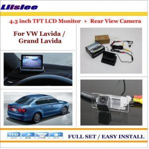"Liislee For Volkswagen VW Lavida / Grand Lavida - Car Rear Camera + 4.3"" TFT LCD Screen Monitor = 2 in 1 Back Up Parking System"