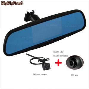BigBigRoad For mazda cx5 cx-5 cx7 cx-7 cx-4 cx4 cx3 mx-5 axela Car Mirror DVR Video Recorder Dash Cam 5 inch Parking camera