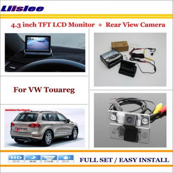 "Liislee For Volkswagen VW Touareg 2002~2010 Car 4.3"" CD Monitor + Car Rear Back Up Camera = 2 in 1 Park Parking System"
