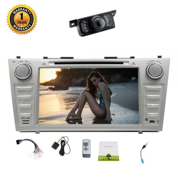 "Rear Camera Eincar for Toyota Camry 8"" Android 7.1 Car Stereo Double Din Radio Stereos in Dash 1080P Video Player OCTA-Core GPS"