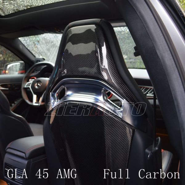 Seat Cover Carbon Fiber Style Interior Trims for Mercedes-Benz GLA 45