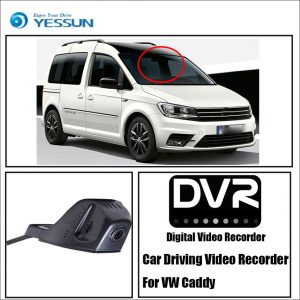 YESSUN For Volkswagen Caddy Car Front Dash Camera CAM- For iPhone Android APP Control Function / DVR Driving Video Recorder