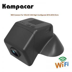 Kampacar HD Car Registrar Wifi DVRs For Volvo V40 2015-2019 Two Lens Dual Dash Cam Camera Auto Video Recorder Dvr