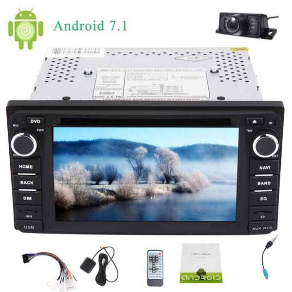 Eincar Backup Camera 6.2'' Android 7.1 for TOYOTA Corolla EX Octa Core Car Stereo Double 2 Din Car DVD Player In dash Head Unit