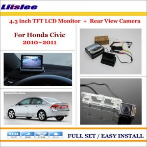 """Liislee For Honda Civic 2010 2011 / 4.3"""" TFT LCD Monitor + Car Rearview Back Up Camera = 2 in 1 Car Parking System"""