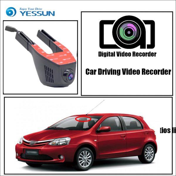 YESSUN for Toyota Etios liva Car Driving Video Recorder DVR Mini Control APP Wifi Camera FHD 1080P Registrator Dash Cam