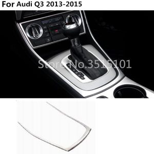 car cover stick ABS Plastic Interior front Shift Stand Stall Paddles cup lamp trim frame 1pcs For Audi Q3 2013 2014 2015