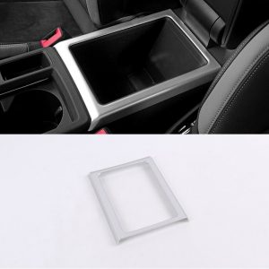 Car Styling Accessories ABS Plastic Interior Central Armrest Box Decorative Frame Cover Trim For Audi Q3 2019 2020