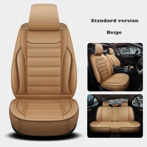 Leather Universal car seat cover for renault armrest capture clio 4 duster fluence kadjar kaptur koleos car accessories styling