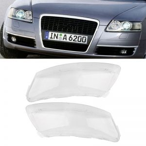 Car Headlight Lens Lampshade Left&Right PC Cover Fit For Audi A6 A6L C6 2006-2011