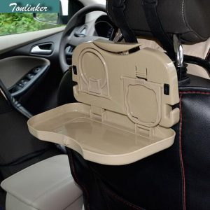 Tonlinker 1 PCS DIY Car styling New Engineering Plastics Folding Tray Back Plate Products Cover Case For AUDI A6L