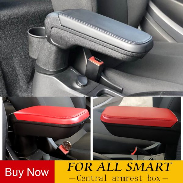 High Quality Leather armrest box with cup holder locker for Mercedes Smart 453 Fortwo Forfour Automotive interior accessories