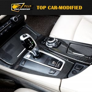 Free shipping CARBON FIBER INTERIOR TRIMS FOR BMW 5 SERIES (with on-of)