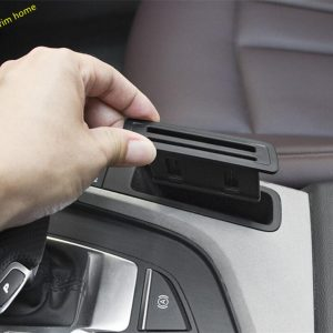 Lapetus Center Control Card Storage Bank Card Cover Fit For Audi A4 B9 A5 Sedan Avant Allroad Quattro 2016 - 2019 Auto Accessory