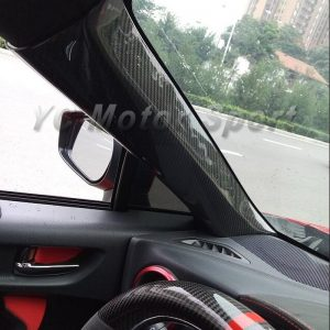Car Accessories Dry Carbon Fiber A Pillar Cover 2pcs Fit For 2012-2017 GT86 FT86 ZN6 FRS BRZ ZC6 A Pillar Cover Car-styling