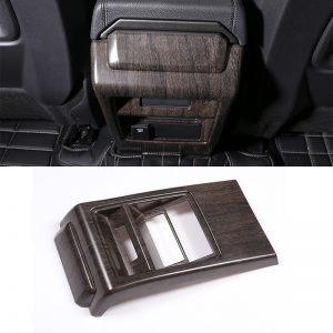 Oak Grain ABS Chrome Armrest Box Rear Row Kick-Proof Cover Trim For Land Rover Discovery Gods 2015-2018 Auto Parts