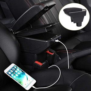 Car-Styling Decoration Accessories For Renault Duster Armrest Box Central Store Content Box Cup Holder Ashtray Interior