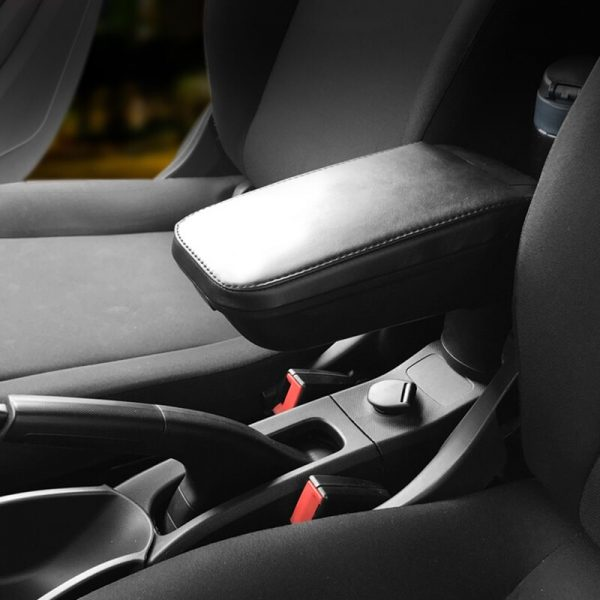 Car Armrest box Leather Cup holder Storage For Smart 453 fortwo forfour Car accessories interior Stowing Tidying Car organizer