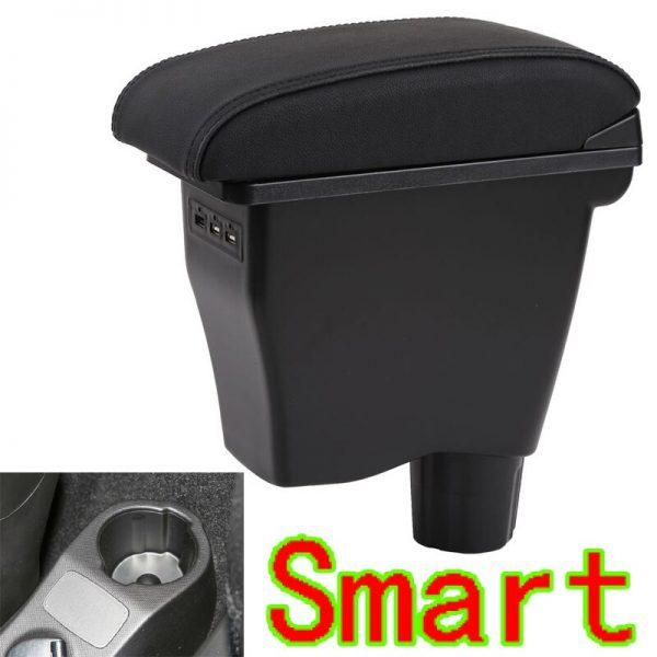 For Smart Forfour Fortwo Armrest box Mercedes Forfour Original storage box Smart Car armrest box With usb interface