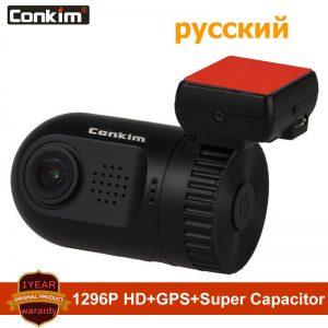 Conkim dash Camera Mini 0805P 1296P 1080P Super Capacitor Car DVR GPS Video Recorder Registrator Dash Cam ADAS Parking