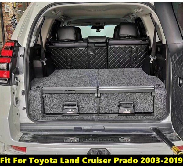 Fit For Toyota Land Cruiser Prado 2003-2019 5 Seats/7 Seats Inner Rear Door Armrest Storage Box Pocket
