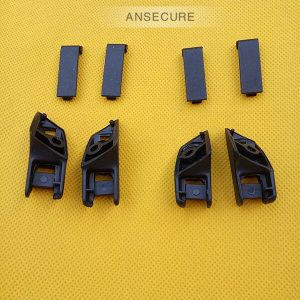 SET Rear door window Visor Sun shade curtain clip Bracket cover for audi A6 C6 avant S6 RS6 2006-2011