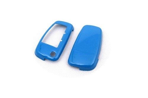 Hard Plastic Keyless Remote Key Protection Case Cover (Gloss Blue) For Audi