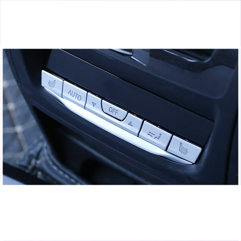 Armrest Rear Air Conditioner Buttons Chrome Trims For Bmw