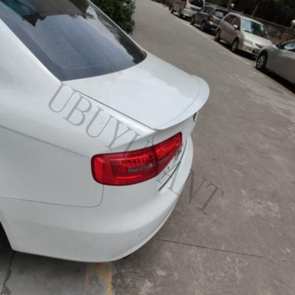 For Audi A4 B8 Spoiler 2009 -2012 ABS Plastic Unpainted Color Rear Roof Spoiler Wing Trunk Lip Boot Cover Car Styling