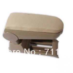 Cloth Center Console Armrest For Volkswagen VW Polo 9N 9N3 Beige Color