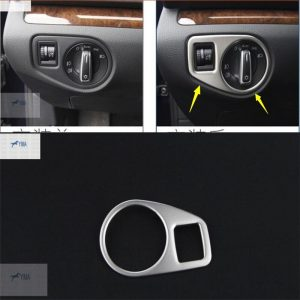 Yimaautotrims Auto Accessory Head Lights Switch Frame Cover Interior Trim 1 Pcs Fit For VW Volkswagen Sharan 2012 - 2016