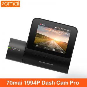 XiaoMi 70mai Dash Cam Pro smart Car 1994P HD Video Recording With WIFI Function Rear View Camera 140FOV Night Vision GPS Module