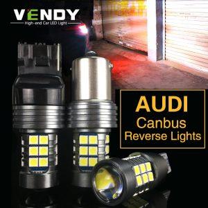 1pcs Car LED Reverse Lights Canbus Lamp W16W T15 P21W BA15S W21W For Audi A4 b8 A3 8p 8l A6 Q5 A1 A5 80 TT Q3 R8 B6 A5 S5 S6