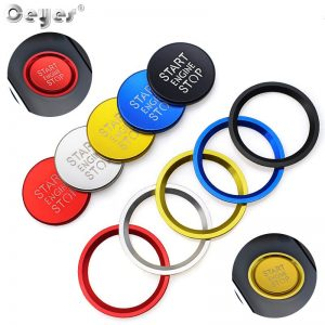 Ceyes Car Interior Accessories Styling Ignition Start Engine Stop Button Ring Stickers Case For Audi A4 A6 A6L A5 B8 A7 Q5 Cover