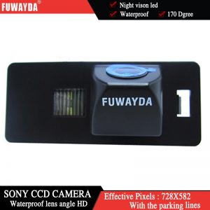 FUWAYDA SONY CCD Chip CAR REAR VIEW CAMERA Reverse With Guide Line CAMERA FOR AUDI A1 A4 (B8) A5 S5 Q5 TT/ PASSAT R36 5D