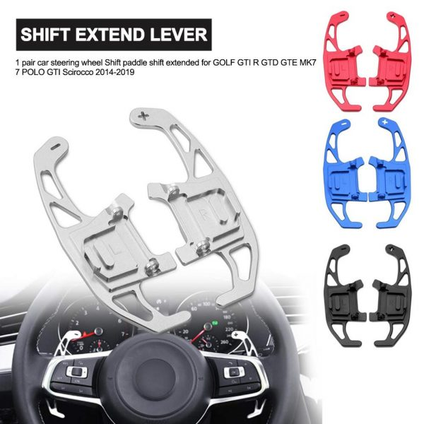 Aluminum Car Steering Wheel Shift Paddle Shift Extended for GOLF GTI R GTD GTE MK7 7 POLO GTI Scirocco 2014-2019 Car Accessories