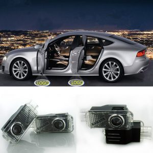 2x LED Car Door Welcome Light Logo Ghost Shadow Lamp For Audi A4 B5 B6 B7 B8 A5 A1 A3 C5 A6 C6 C7 A7 A8 Q3 Q5 Q7 TT 8L Projector
