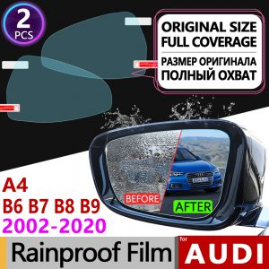 For Audi A4 B6 B7 B8 B9 2002 - 2020 8E 8H 8K 8W Full Cover Anti Fog Film Rearview Mirror Rainproof Anti-Fog Accessories S4 RS4