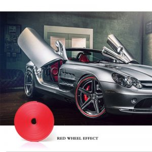 Car-Styling Car Wheel Hub Tire Protector Sticker For Audi A3 A4 B6 B8 B7 B5 A6 C5 C6 Q5 A5 Q7 TT A1 S3 S4 S5 S6 Fiat 500 Punto