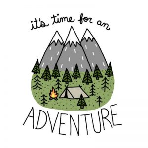 Car Accessories It's Time for An Adventure Funny Car Sticker & Decal for Volkswagen Ford Focus BMW E46 Opel Audi A4 B8 Seat