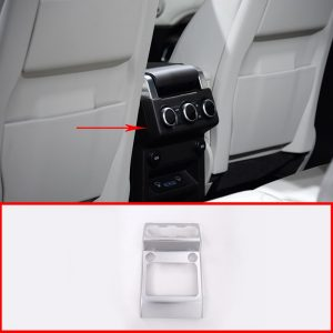 For Land Rover Discovery 5 LR5 2017 Car Styling Accessories ABS Chrome Armrest Box Rear AC Outlet Vent Cover Trim