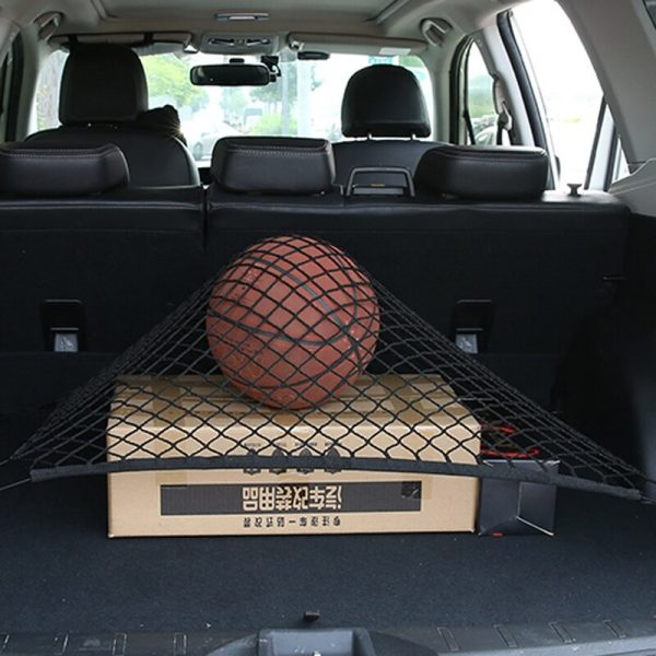 Car Mesh Cargo Net Holder Trunk Auto Elastic Storage 4 Hook For Audi A3 A4 A5 A6 A7 A8 B6 B7 B8 C5 C6 TT Q3 Q5 Q7 S3 S4