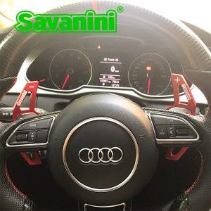 Savanini DSG Steering Wheel Gear Shift Paddle Shifter extension For Audi A3/A4/A5/Q3/Q5/TT/S3/R8/A6 car accessories