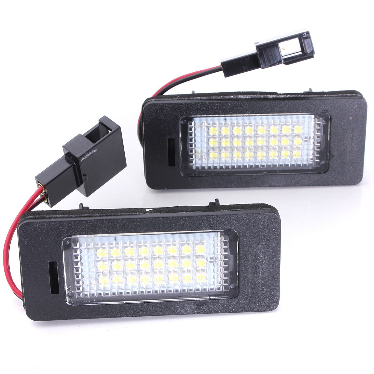 2X Error Free Car LED Number License Plate Lights For Audi