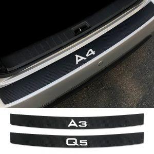 Car Rear Bumper Trunk Load Edge Protector Sticker For Audi A4 B5 B6 B7 B8 A3 8P 8V 8L A5 A6 C6 C5 C7 A1 A7 A8 Q2 Q3 Q5 Q7 TT RS5
