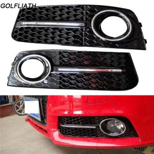 GOLFLIATH A4 B8 Sedan 4-Door ABS Auto Side Fog Light Cover Trims for Audi A4 B8 Standard 2009-2012 2pcs/set ( Non Sline )